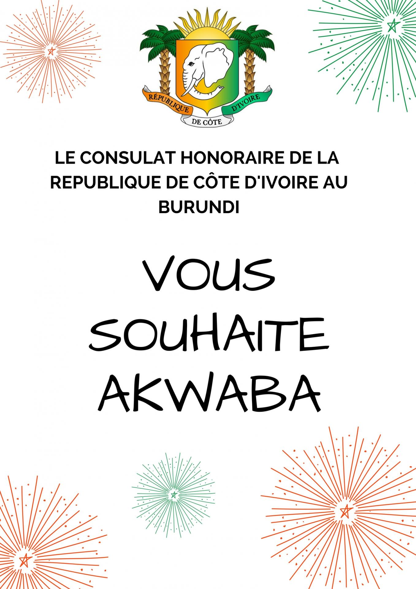 Akwaba welcome bienvenue